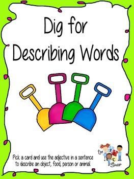 FREE! Dig for Describing Words