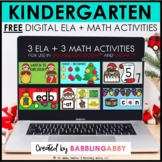 FREE Digital Activities for Kindergarten ELA + Math Google Slides™ Seesaw™
