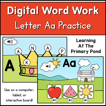 FREE Digital Alphabet Practice - Letter Aa | Boom Learning Cards