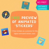 FREE Digital Animated Stickers Preview