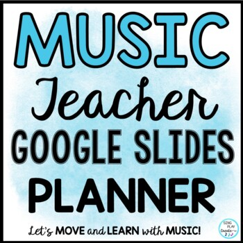 FREE Digital Distance Learning Google Slides Music Teacher Planner-April