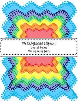 FREE Digital Frames Primary Curvy Dots