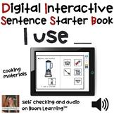 FREE Digital Interactive Book - I Use - Sentencer Starter