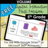 FREE Digital Interactive Math Notebook for Volume   Digita