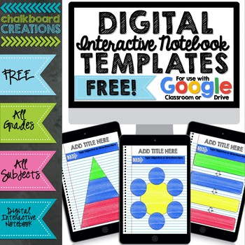 FREE Digital Interactive Notebook & Graphic Organizer Template ...