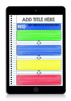 FREE Digital Interactive Notebook & Graphic Organizer Template Sample (GOOGLE)