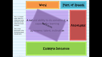 FREE Digital Interactive Vocabulary Flashcards for PowerPoint Any Subject