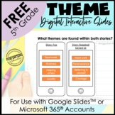 FREE Digital Interactive Reading Notebook for Theme | Them