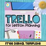 FREE Digital Lesson Planning Trello Board Template
