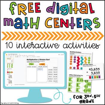 FREE Digital Math Centers for Google Classroom™