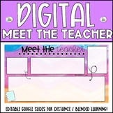 """FREE Digital """"Meet the Teacher"""" Distance Learning Templates 5 Colors"""