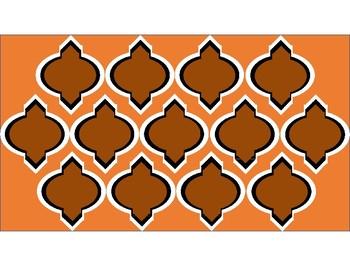 FREE Digital Paper - Brown & Orange Moroccan