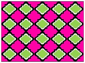 FREE Digital Paper - Lime & Fuchsia Moroccan