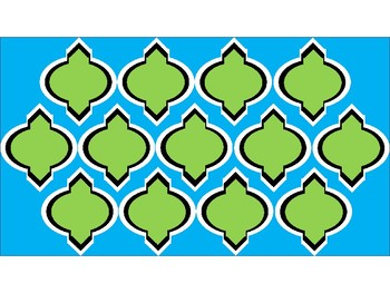 FREE Digital Paper - Lime & Teal Moroccan