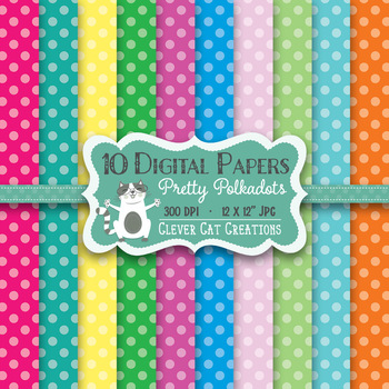 FREE Digital Paper – Pretty Polka Dots