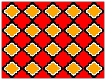 FREE Digital Paper - Red & Orange-Gold Moroccan