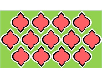 FREE Digital Paper - Watermelon (Lime & Coral) Moroccan