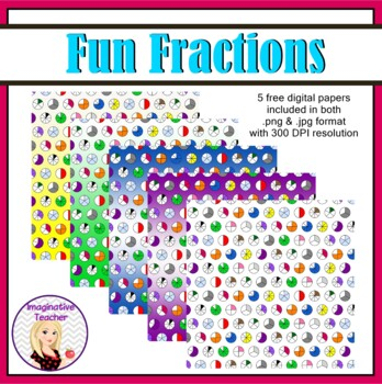 FREE Digital Papers - Fun Fractions