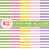 FREE Digital Papers-Colorful Strips