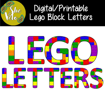 photograph regarding Free Printable Block Letters called No cost Electronic/Printable Lego Block Letters