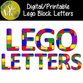 FREE Digital/Printable Lego Block Letters