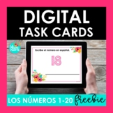 FREE Spanish Numbers 1-20 BOOM CARDS | Digital Task Cards