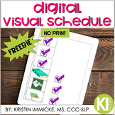 FREE Digital Visual Schedule for Distance Learning