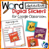 FREE Digital Word Detective Stickers for Google Classroom