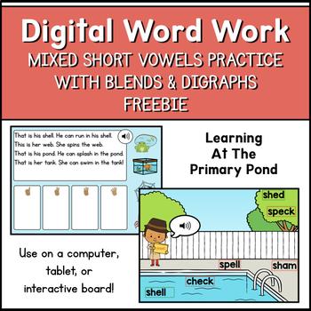 FREE Digital Word Work - Short Vowels, Blends, & Digraphs | Boom Learning Cards