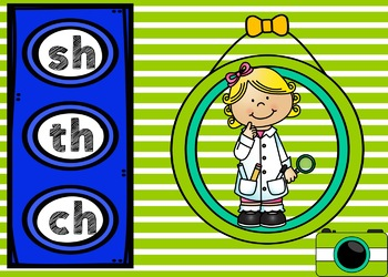 FREE Digraph Digital Task Cards (wh, ch, sh, & th) Boom Cards