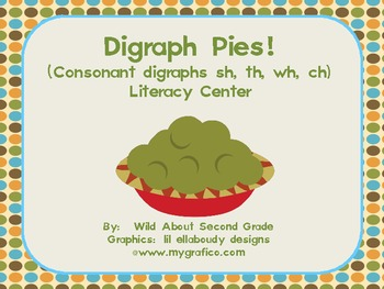 FREE-Digraph Pies!  Literacy Center/ Word Work for Consonant Digraphs