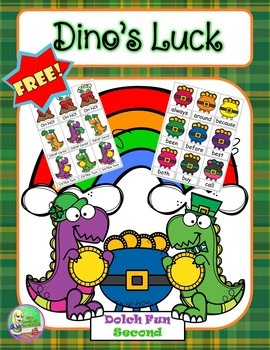 FREE Dino's Luck ☘ Sight Word Center (Second)