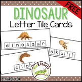 FREE Dinosaur Letter Tile Cards