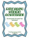 FREE Dinosaur Theme Activities