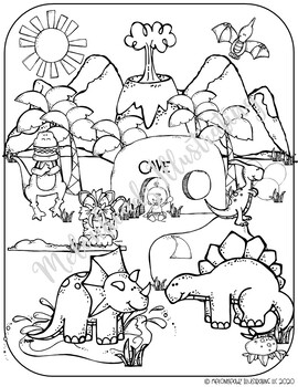 Dinosaur Coloring Pages | 350x270