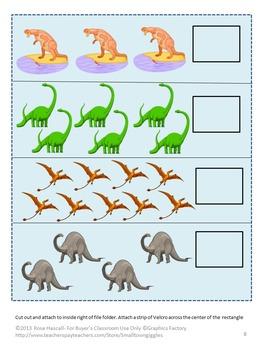 FREE-Dinosaurs File Folders Games Sampler, Autism, Preschool, PK,K