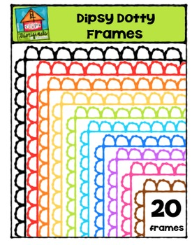 FREE Dipsy Dotty Frames {P4 Clips Trioriginals Digital Clip Art)