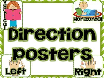 "FREE Chevron ""Directions"" Posters"