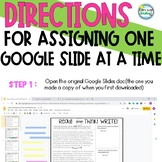 FREE Directions Separating and Assigning One Google Slide