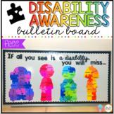 FREE Disability Awareness Bulletin Board Display