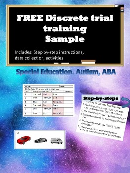 FREE Discrete Trial Training with cars for Autism, ABA, Special Education
