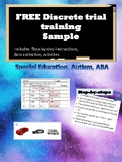 FREE Discrete Trial Training with cars for Autism, ABA, Sp