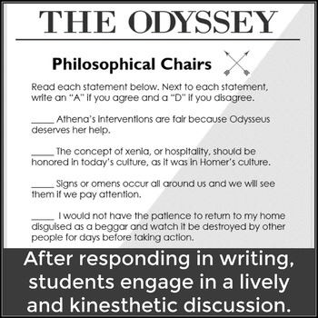 FREE Discussion Activity for Homer's The Odyssey