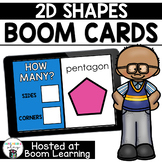 Distance Learning- 2D Shapes Boom Cards Deck (sides and corners)