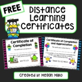 FREE Distance Learning certificates