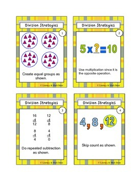{FREE} Division Strategies Playing Cards