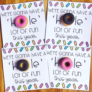FREE Donut Back to School Gift Tags