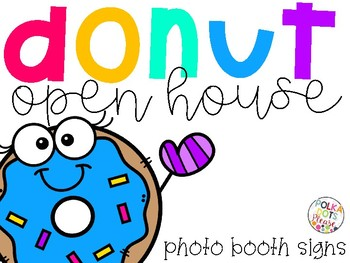 free donut open house photo booth signs and printablespolka, Powerpoint templates