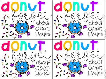 FREE Donut Open House Photo Booth Signs and Printables