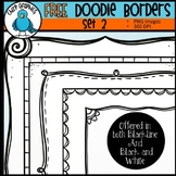 FREE Doodle Borders Clip Art Set #2 - Chirp Graphics
